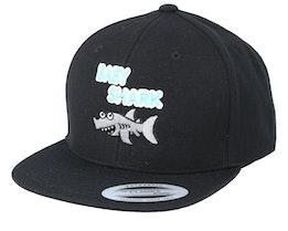 Kids Baby Shark Black Snapback - Kiddo Cap