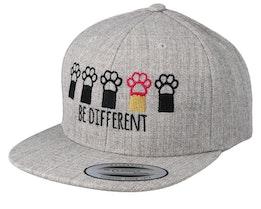 Kids Be Different Heather Grey Snapback - Kiddo Cap