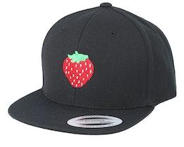 Kids Strawberry Black Snapback - Kiddo Cap