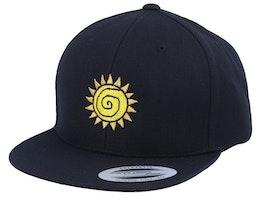 Kids Sun Black Snapback - Kiddo Cap