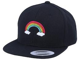 Kids Rainbow Black snapback - Kiddo Cap