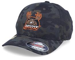 Moose Black Multicamo Flexfit - Hunter