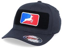 MLB Deer Velvet Patched Black Flexfit - Hunter