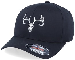 Deer Skull Black Flexfit - Hunter