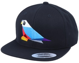 Paper Bird Black Snapback - Origami