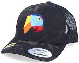 Paper Parrot Black Camo Trucker - Origami