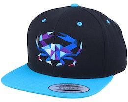 Blue Paper Crab Black/Teal Snapback - Origami