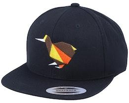 Paper Kiwi Bird Black Snapback - Origami