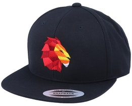 Paper Lion Black Snapback - Origami