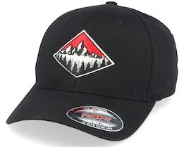 Fir Mountain Emblem Black Flexfit - Wild Spirit