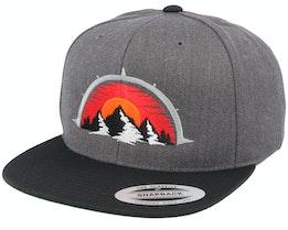 Mountain Compass Charcoal Snapback - Wild Spirit