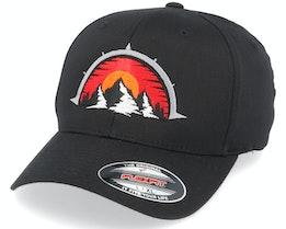 Mountain Compass Black Flexfit - Wild Spirit