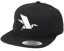 Bird Logo Black Snapback - Origami