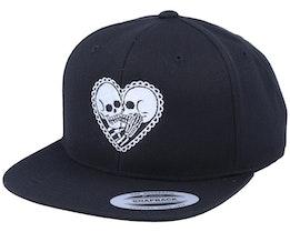 Skeleton Love Black Snapback - Calaveras