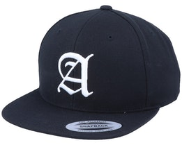 A Letter 3D Black Snapback - Iconic