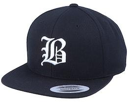 B Letter 3D Black Snapback - Iconic