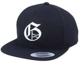 G Letter 3D Black Snapback - Iconic