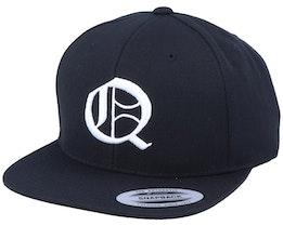Q Letter 3D Black Snapback - Iconic