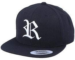 R Letter 3D Black Snapback - Iconic