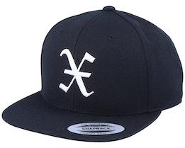 X Letter 3D Black Snapback - Iconic