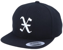 Kids X Letter 3D Black Snapback - Kiddo Cap