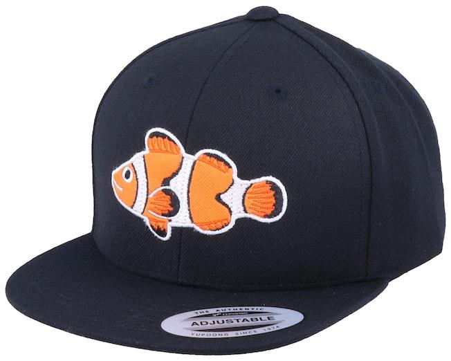Kids Clown Fish Black Snapback - Kiddo Cap