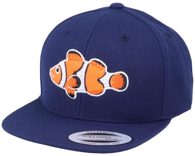 Kids Clown Fish Navy Snapback - Kiddo Cap