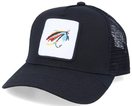 Silver Doctor Fishing Fly  Patch Black Trucker - Iconic