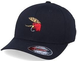 Quebec Fishing Fly  Black Flexfit - Iconic