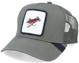 Thunder & Lightning Fishing Fly Patch Olive - Iconic