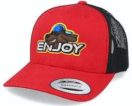 Enjoy Red/Black Trucker - Iconic