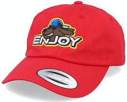 Enjoy Red Dad Cap Adjustable - Iconic