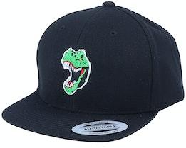 Kids Angry Dinosaur T-Rex Black Snapback - Kiddo Cap