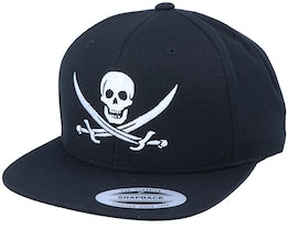 Jolly Roger Pirate Black Snapback - Iconic