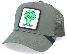 Vegan Patch Olive Trucker - Iconic