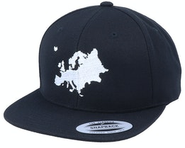 Euro Map Black Snapback - Bacpakr