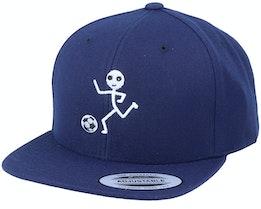 Kids Sticky Football Navy Snapback - Kiddo Cap
