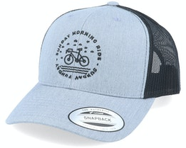 Sunday Morning Ride Grey/Black Trucker - Bike Souls
