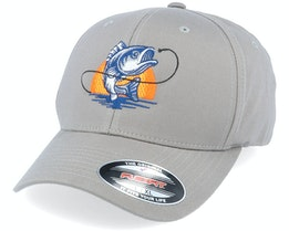 Sunset Fish Logo Grey Flexfit - Hunter
