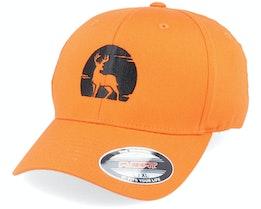 Deer Silhouette Orange Flexfit - Hunter