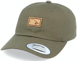 Bent Rod Patch Dad Cap Olive Adjustable - Hunter