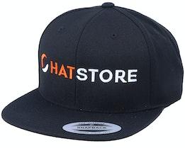 Horizontal Logo Black Snapback - Hatstore