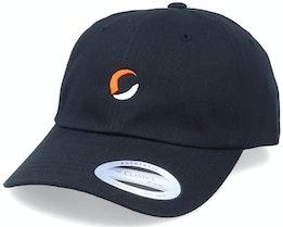 Circle Logo Black Dad Cap - Hatstore