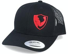 Biceps Shield Side Black Trucker - Berzerk
