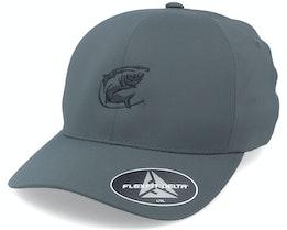 Oval Fishing Logo  Delta Fit Char Flexfit - Hunter