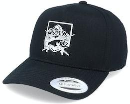 Fishing Badge Black A-Frame Adjustable - Hunter