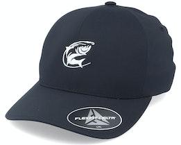 Oval Fishing Logo Black Delta Flexfit - Hunter