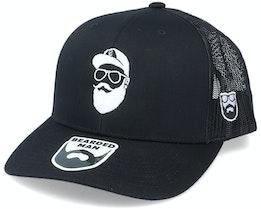 Cap Man Black Trucker - Bearded Man