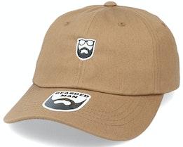 Badge Logo Brown Dad Cap - Bearded Man
