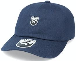 Badge Logo Navy Dad Cap - Bearded Man